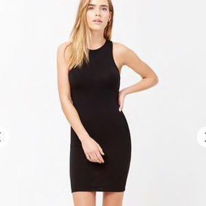 F21 tight black dress